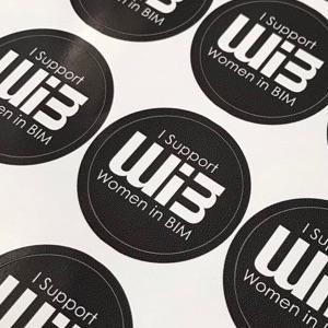 WomeninBIM Supporter Stickers